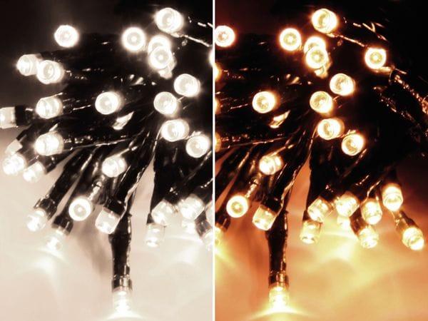 LED-Lichterkette, 80 LEDs, warm-/kaltweiß umschaltbar, 230V~, IP44 - Produktbild 1
