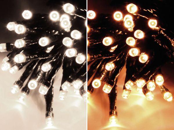 LED-Lichterkette, 180 LEDs, warm-/kaltweiß umschaltbar, 230V~, IP44 - Produktbild 1