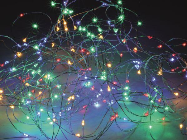 LED-Patry Lichterkette, Silberdraht, 300 LEDs, bunt, 230V~, Innen/Außen