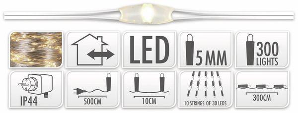 LED-Lichterkette, warmweiß, 300 LEDs, halbtransparent, 230V~, Innen/Außen - Produktbild 4