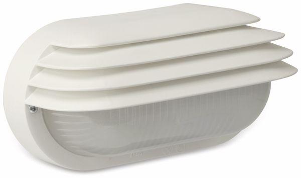Ovalleuchte mit Lamellen, 40 W, IP44, weiß - Produktbild 1