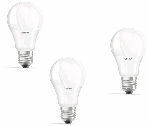 LED-Lampe OSRAM Basic Classic, E27, EEK: A+, 9 W, 806 lm, 2700 K, 3 Stk. - Produktbild 1