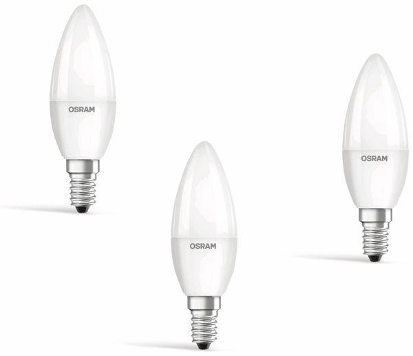 LED-Lampe OSRAM Basic Classic, E14, EEK: A++, 5,7 W, 470 lm, 2700 K, 3 Stk. - Produktbild 1