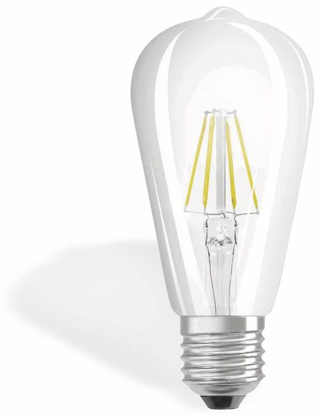 LED-Lampe OSRAM RETROFIT, E27, EEK: A++, 4 W, 470 lm, 2700 K, ST64 - Produktbild 1
