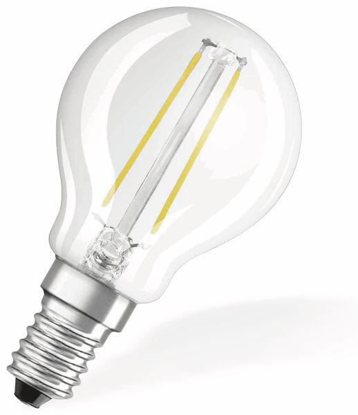 LED-Lampe OSRAM RETROFIT, E14, EEK: A++, 2,1 W, 250 lm, 2700 K, P45 - Produktbild 2