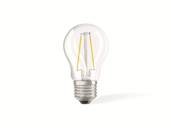 LED-Lampe OSRAM RETROFIT, E27, EEK: A++, 2 W, 250 lm, 2700 K, P45 - Produktbild 1
