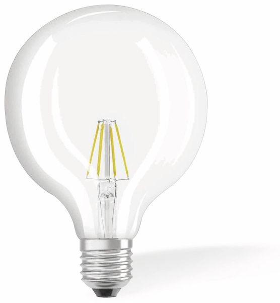 LED-Lampe OSRAM RETROFIT, E27, EEK: E 4 W, 470 lm, 2700 K, G124