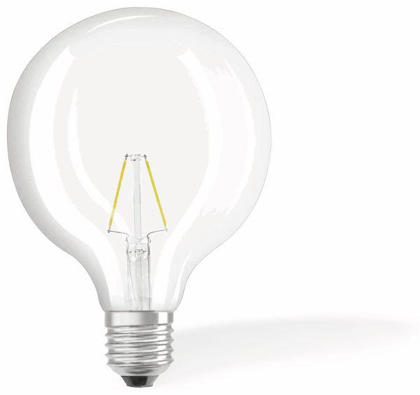 LED-Lampe OSRAM RETROFIT, E27, EEK: F, 2 W, 250 lm, 2700 K, G125