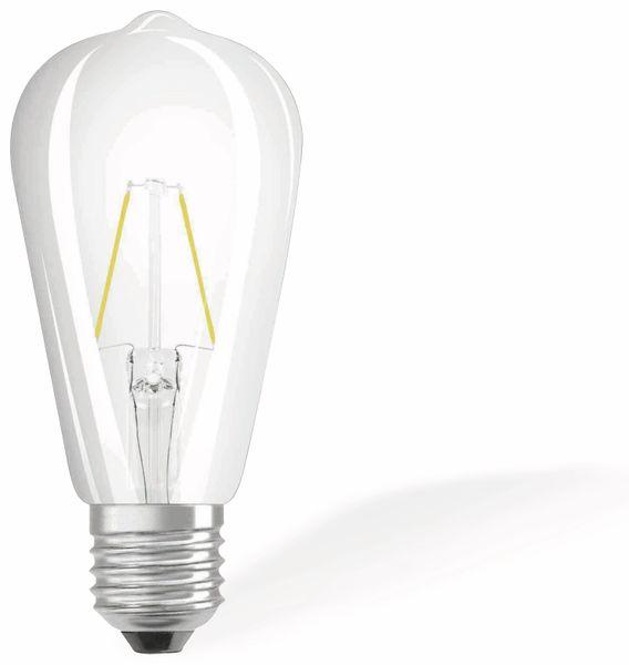 LED-Lampe OSRAM RETROFIT, E27, EEK: A++, 2 W, 250 lm, 2700 K, ST64 - Produktbild 1
