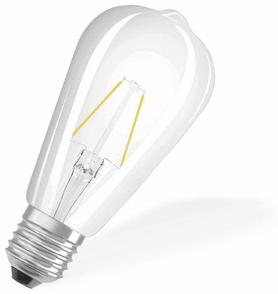 LED-Lampe OSRAM RETROFIT, E27, EEK: A++, 2 W, 250 lm, 2700 K, ST64 - Produktbild 2