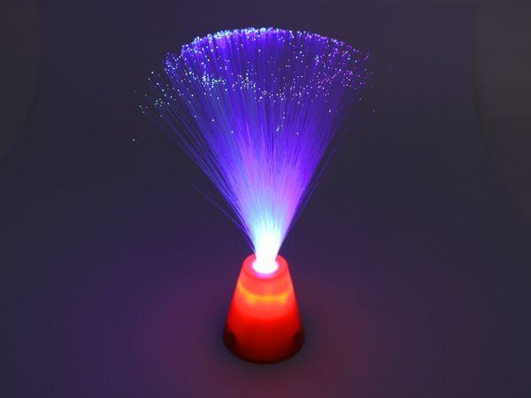Glasfaserlampe mit Farbwechsler, 30 cm - Produktbild 1