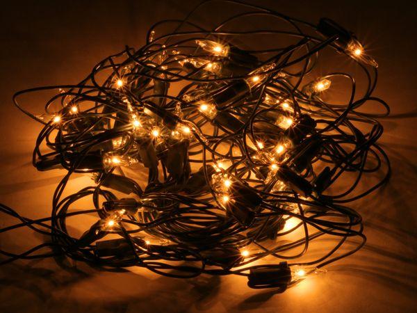 Lichterkette mit 50 Lampen, Netzform, warmweiß, 100x100 cm - Produktbild 1