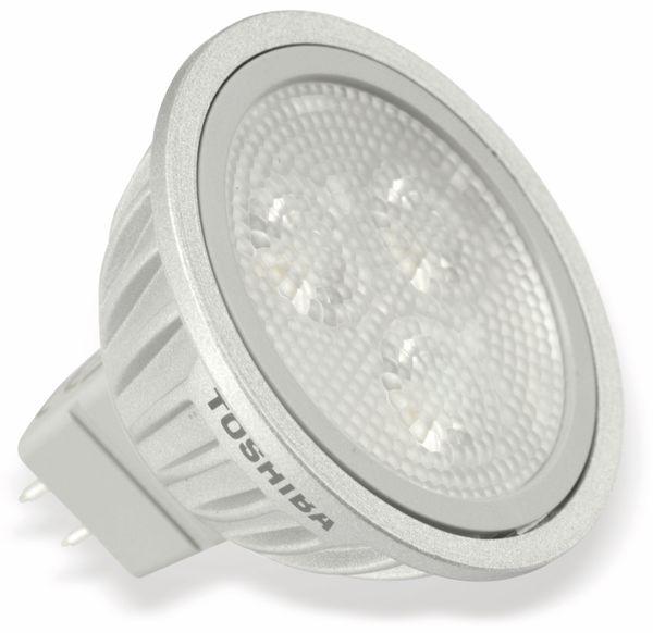 LED-Lampe TOSHIBA LDRA0727MU5EUD, GU5.3, EEK: A, 6,7 W, 300 lm, 2700 K - Produktbild 1