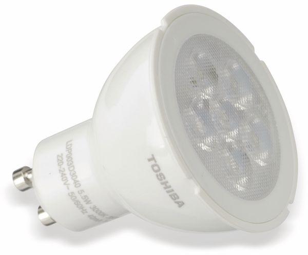 LED-Lampe TOSHIBA LDP003D3040-EUC, GU10, EEK: A+, 5,5 W, 350 lm, 3000 K - Produktbild 1