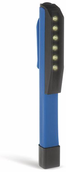 LED-Taschenlampe SOLUTIONS2GO, 6 LEDs, blau