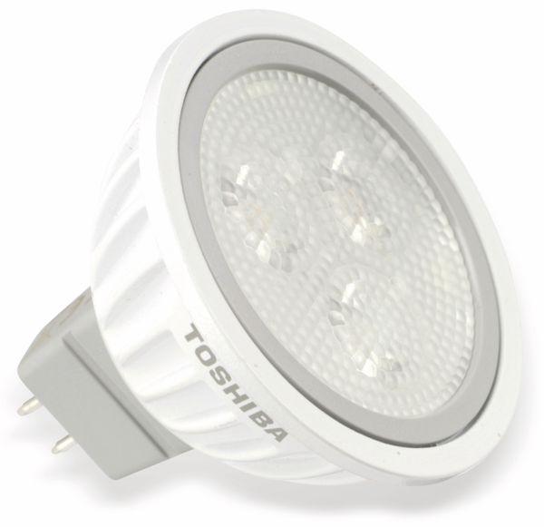 LED-Lampe TOSHIBA LDRA0430WU5EUC, GU5.3, EEK: A+, 4 W, 230 lm, 3000 K - Produktbild 1