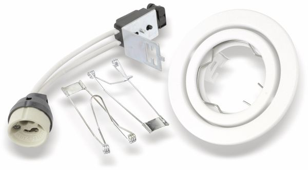 Decken-Einbauleuchte TOSHIBA LEDEUD00132C, GU10, schwenkbar, weiß - Produktbild 1