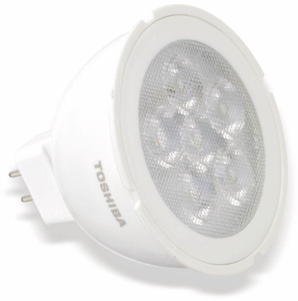 LED-Lampe TOSHIBA LDM002A3030-EUC, GU5.3, EEK: A+, 5,5 W, 350 lm, 3000 K - Produktbild 1