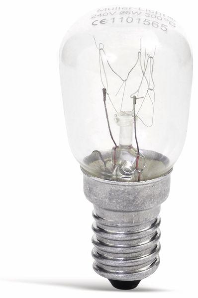 Backofenlampe MÜLLER-LICHT 100011, E14, EEK: E, 25W, 170lm, 300°C, 2400K