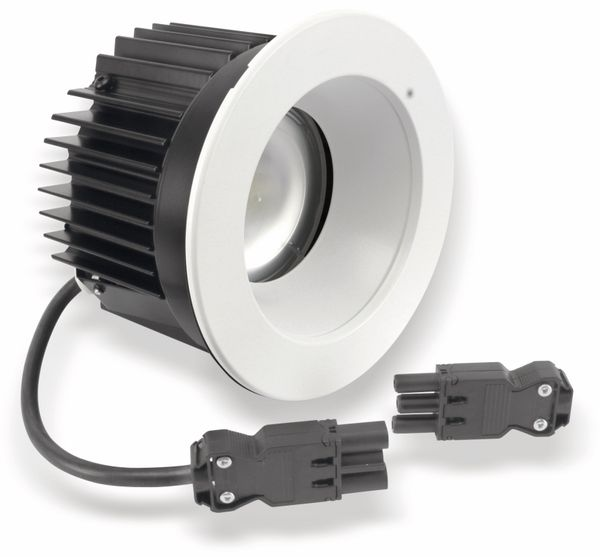 LED-Einbauleuchte TOSHIBA E-CORE LED DOWNLIGHT 1100, EEK: A, 3000 K, weiß - Produktbild 1