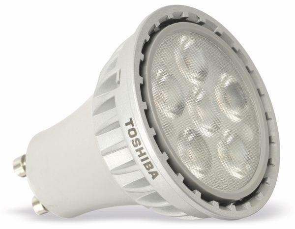 LED-Lampe TOSHIBA LDRC0530MU1EUD, GU10, EEK: A+, 5,4 W, 355 lm, 3000 K - Produktbild 1