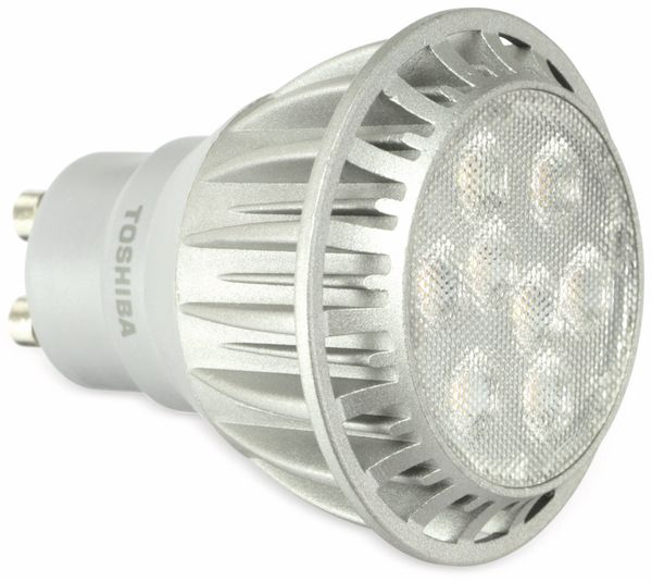 LED-Lampe TOSHIBA LDP006D27W40DEU, GU10, EEK: A, 8 W, 460 lm, 2700 K - Produktbild 1