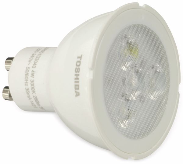 LED-Lampe TOSHIBA LDP001D3040-EUC, GU10, EEK: A+, 4 W, 250 lm, 3000 K - Produktbild 1