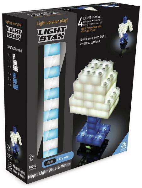 Bausteine LIGHT STAX Night Light Blue & White 34230, blau/weiß, 38-teilig