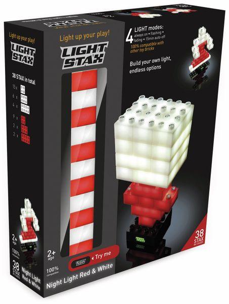Bausteine LIGHT STAX Night Light Red & White 34231, rot/weiß, 38-teilig