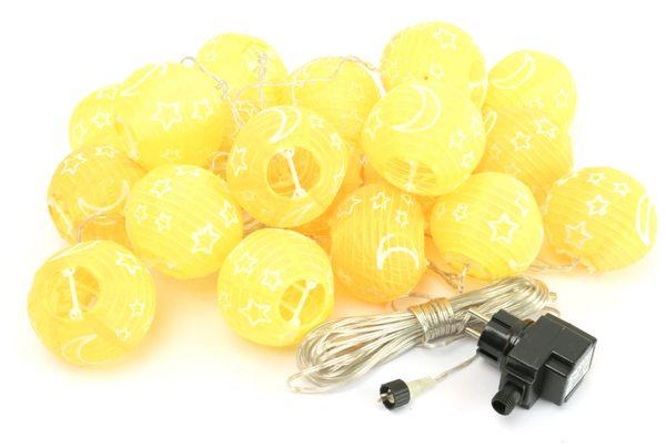 LED-Sommerlichterkette, 1,2W, Lampions, gelb/orange - Produktbild 1
