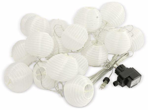 LED-Sommerlichterkette, 0,9W, Lampions, weiß - Produktbild 1