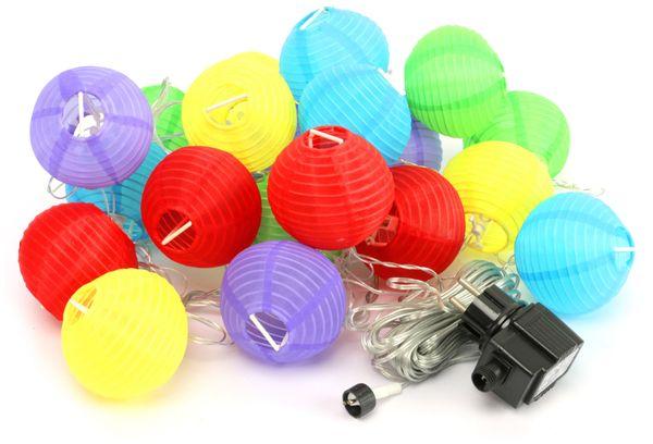 LED-Sommerlichterkette, 0,9W, Lampions, bunt
