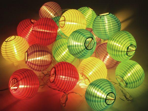 LED-Sommerlichterkette, 0,9W, Lampions, bunt - Produktbild 3