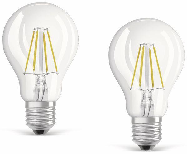 LED-Lampe OSRAM BASE CLASSIC A, E27, EEK: A++, 7 W, 806 lm, 2700 K, 2 Stück - Produktbild 1