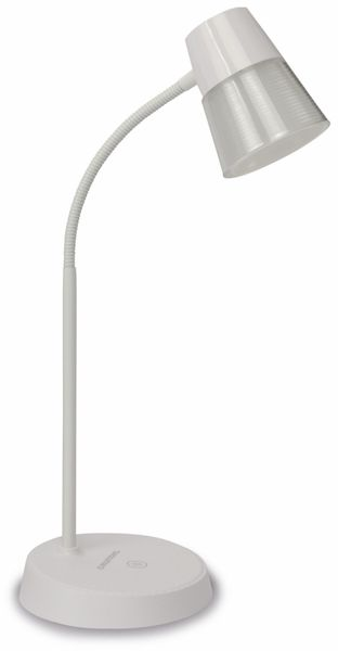 LED-Schreibtischleuchte GRUNDIG, 4,5W, 220lm, USB, Trapez, weiß