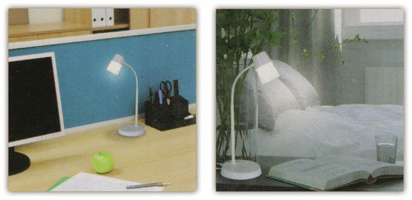 LED-Schreibtischleuchte GRUNDIG, 4,5W, 220lm, USB, Trapez, weiß - Produktbild 3