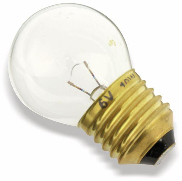 Glühlampe, E27, 6 V/10 W, klar