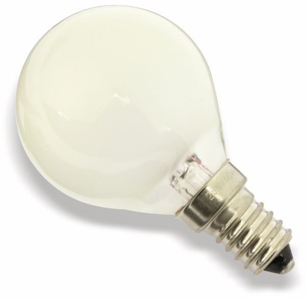 Glühlampe, E14, 260 V/40 W, matt