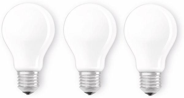 LED-Lampe OSRAM BASE A60, E27, EEK: A++, 7 W, 806 lm, 2700 K, 3 Stück - Produktbild 1
