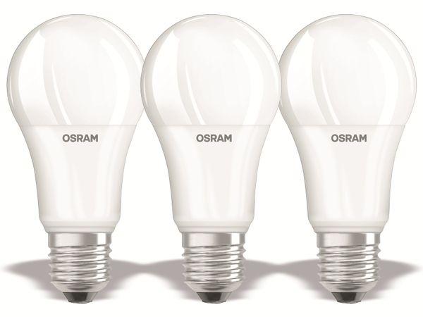 LED-Lampe OSRAM BASE C60, E27, EEK: F, 14W, 1521 lm, 2700 K, 3 Stück