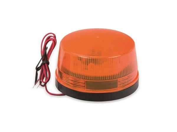LED-Blinkleuchte, Ø 73 mm, 12 V-, orange