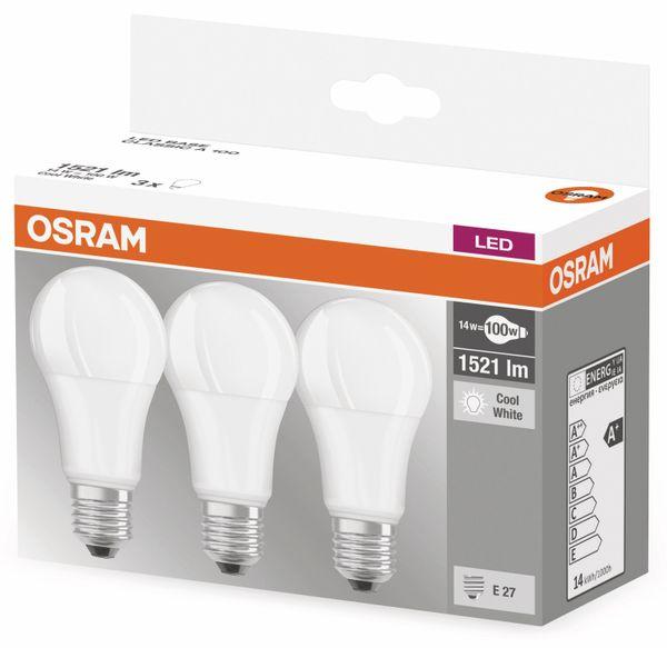 LED-Lampe OSRAM BASE , E27, EEK: A+, 14W, 1521 lm, 4000 K, 3 Stück - Produktbild 3