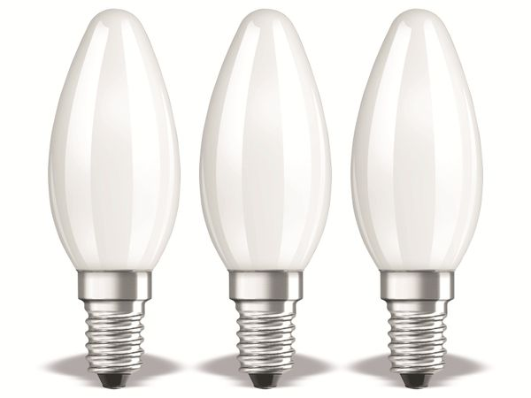 LED-Lampe OSRAM BASE B40, E14, EEK: E, 4W, 470 lm, 2700 K, 3 Stück