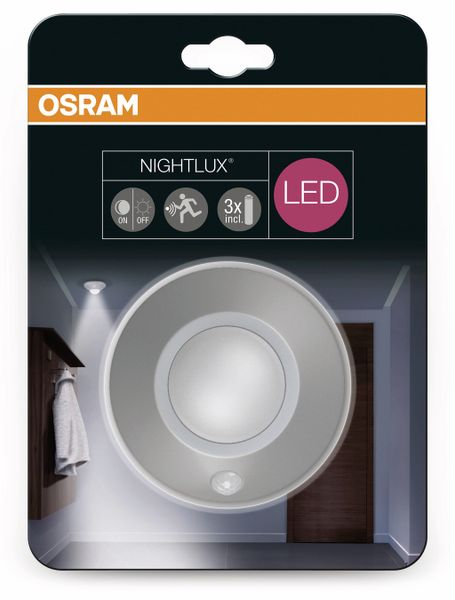 LED-Decken Nachtlicht OSRAM NIGHTLUX Ceiling, mit Bewegungssensor, silber - Produktbild 4