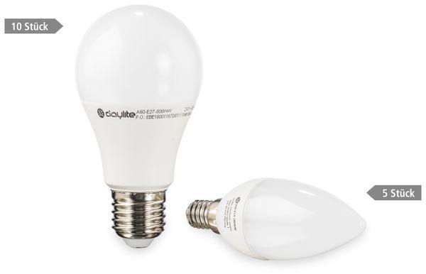 15er LED-Lampen-Set DAYLITE, EEK: A+, 10x A60-E27-806WW + 5x KM-E14-285WW - Produktbild 1