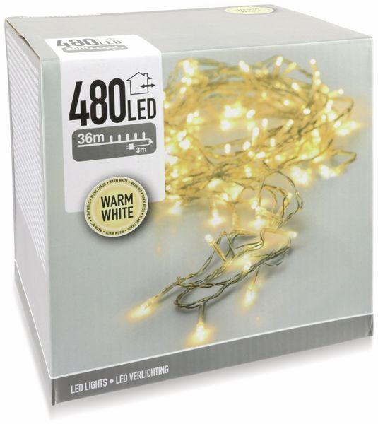 LED-Lichterkette, 480 LEDs, warmweiß, 230V~, IP44, Innen/Außen - Produktbild 5