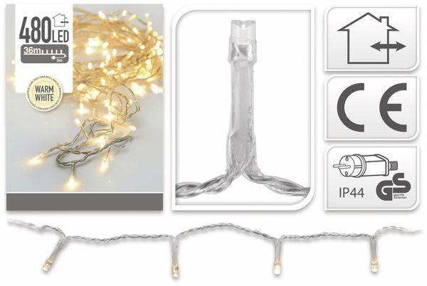 LED-Lichterkette, 480 LEDs, warmweiß, 230V~, IP44, Innen/Außen - Produktbild 6