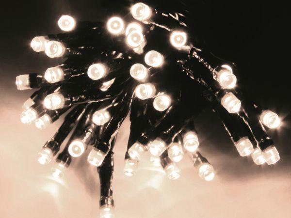 LED-Lichterkette, 180 LEDs, kaltweiß, 230V~, IP44, 8 Funktionen, Memory