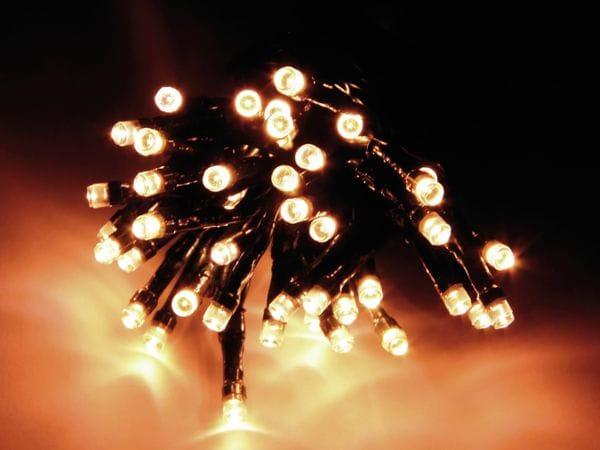 LED-Lichterkette, 180 LEDs, warmweiß, 230V~, IP44, 8 Funktionen, Memory - Produktbild 1