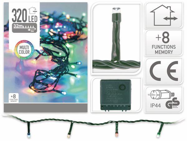 LED-Lichterkette, 320 LEDs, bunt, 230V~, IP44, 8 Funktionen, Memory - Produktbild 4